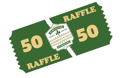 shamrock n roll 50 50 raffle ticket holy redeemer school